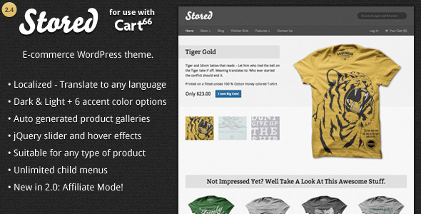 The Stored WordPress E-commerce Theme For Cart66