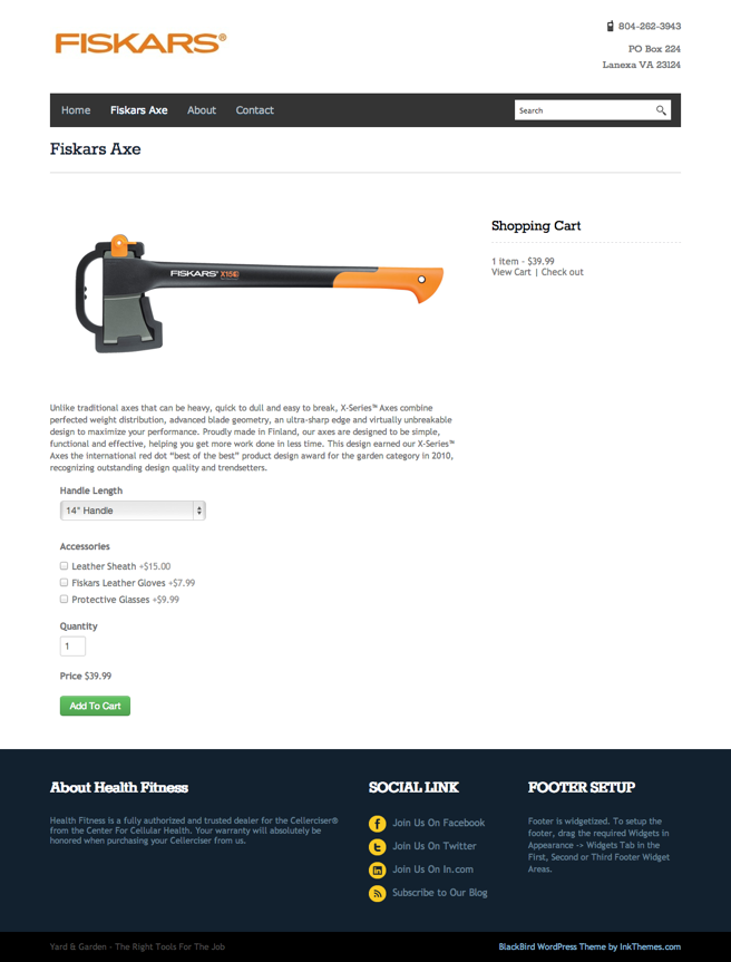 Blackbird WordPress ecommerce theme